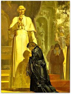 'Teresinha diante do Papa Leão XIII', Aldo Locatelli (1957) - Igreja Santa Teresinha (Detalhe)