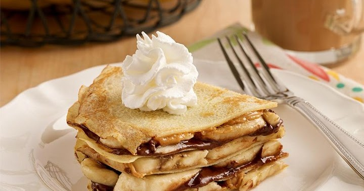 ... Products and News: Gluten Free Peanut Butter and Banana Crepe Stack