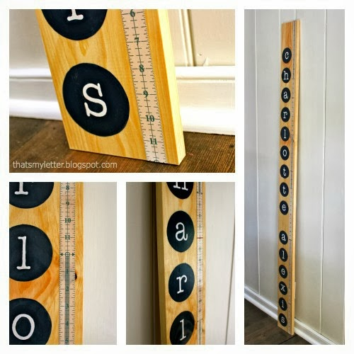 diy personalized growth chart details