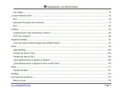 Aplastando los Microlímites BlackRain79 table of contents