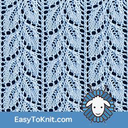 Eyelet Lace 76: Drooping Elm Leaf #easytoknit