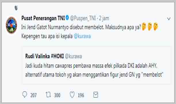 Panglima TNI Dituduh Pembelot, Ini Respon Keras Puspen TNI untuk Ahoker @Kurawa