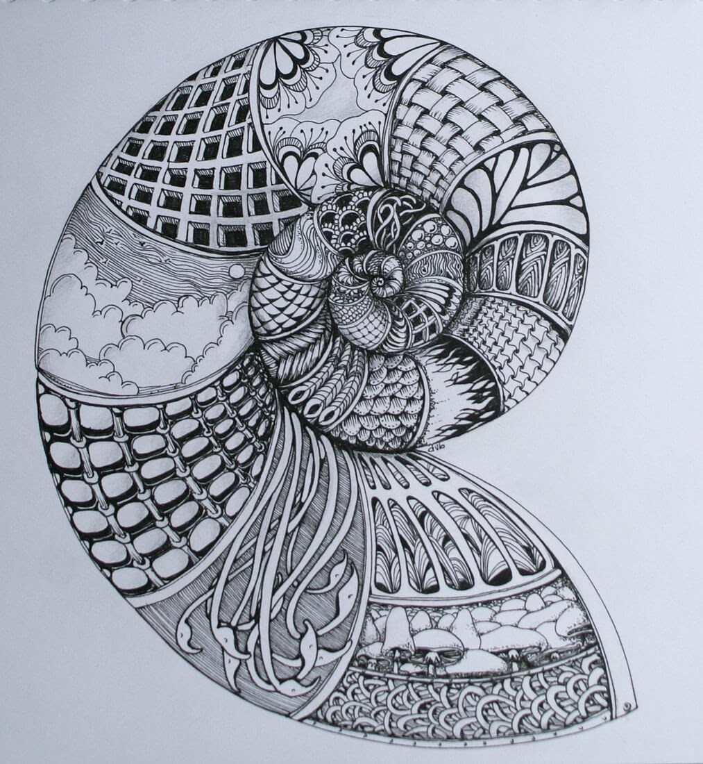 04-Spiral-Deborah-Elaborate-Zentangle-Drawings-www-designstack-co