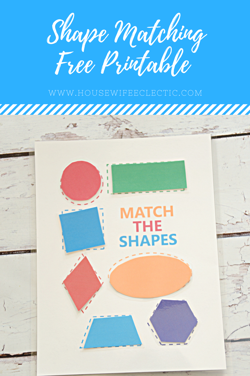 image relating to Free Printable Shapes referred to as Condition Matching Totally free Printable - Housewife Eclectic