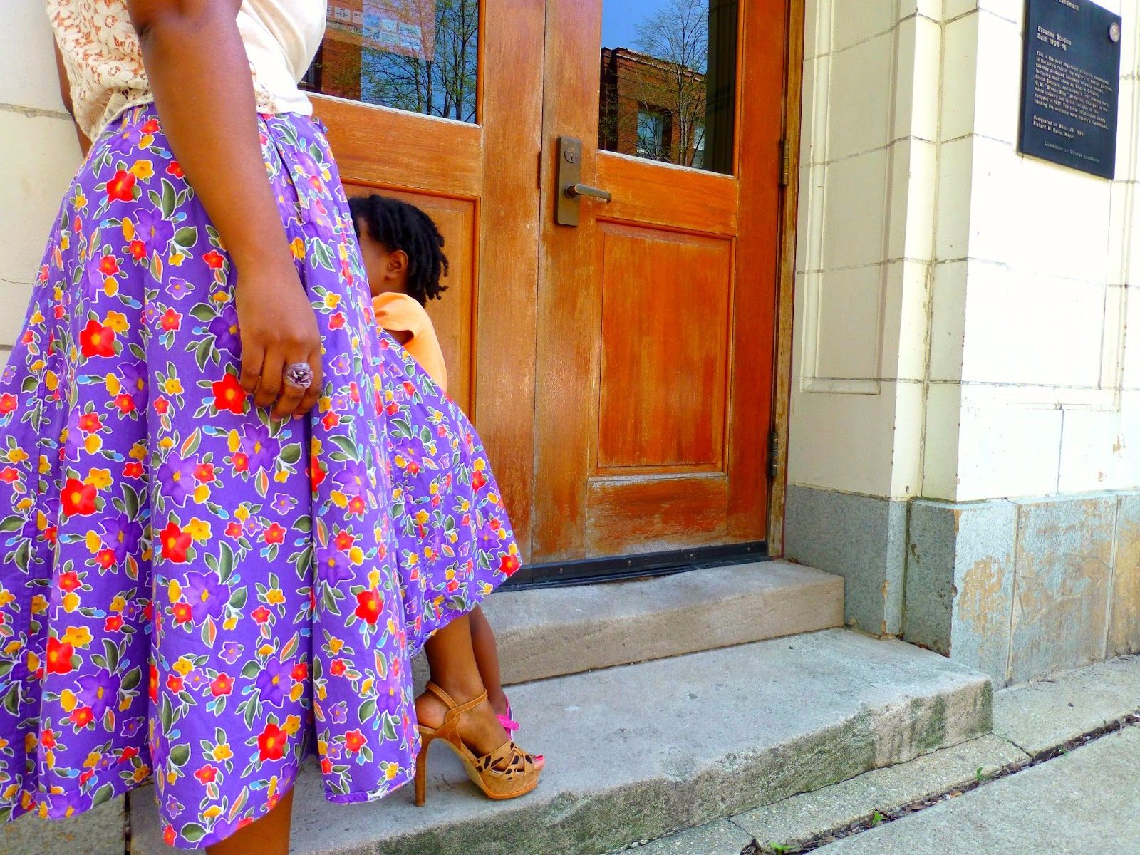 Floral mid skirt