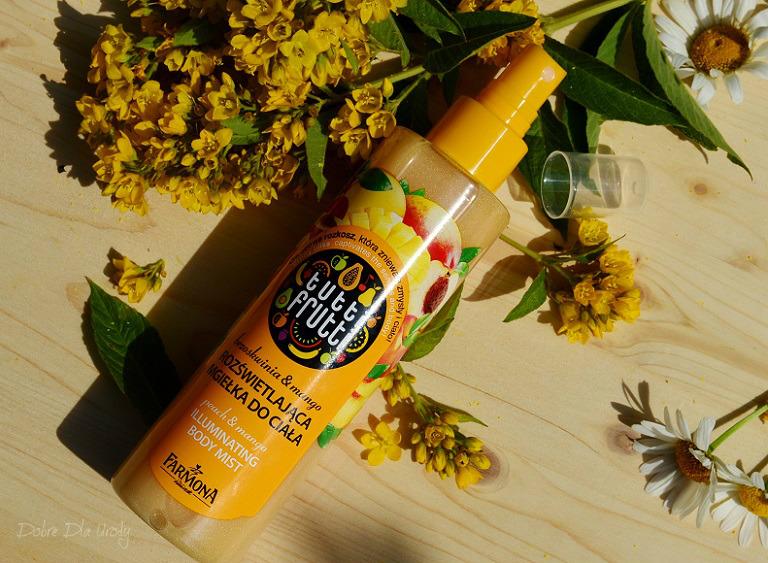 Tutti Frutti Brzoskwinia i mango Rozświetlająca mgiełka do ciała
