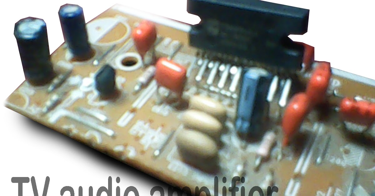 Power amplifier compatible with TV audio