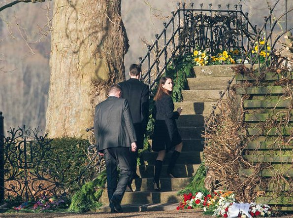 Prince Joachim, Princess Marie and Princess Benedikte attended the funeral of Barón Niels Krabbe Iuel-Brockdorff at the Valdemars Castle Church