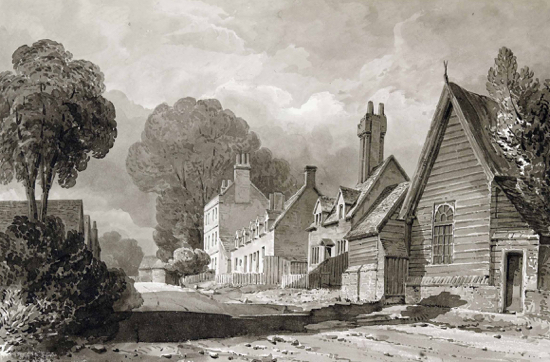 Drawing of Bell Bar by Buckler, 1840. By courtesy of the County Records Office.