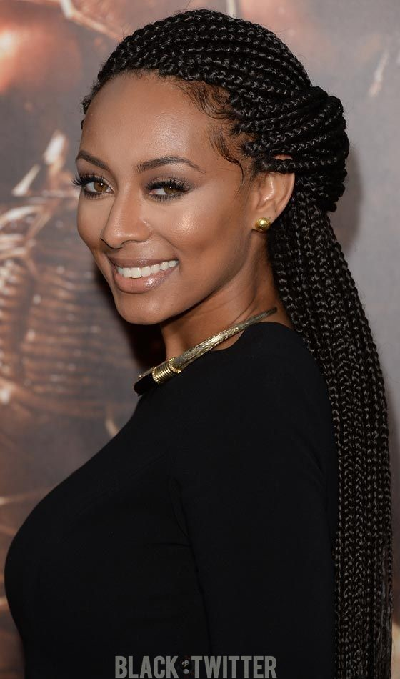 beautiful black woman braided updos