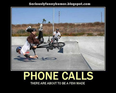 Bicycle accident - PHONE CALLS - There are about to be a few made! Fun meme!