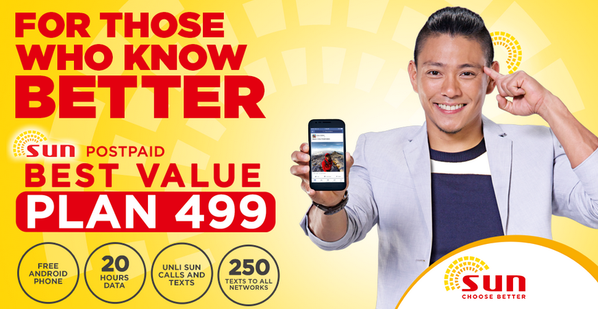 Sun Cellular vs Globe Telecom, Sun Cellular 2015, Sun Cellular Choose Better
