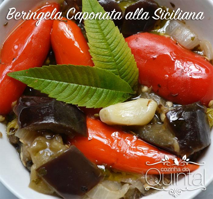 Beringela Caponata Alla Siciliana Cozinha do Quintal