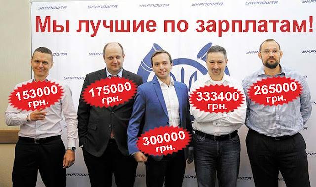 Укрпочта - зарплаты