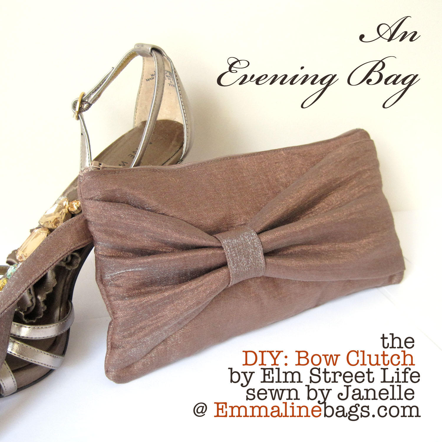 684f2fb2b7 Emmaline Bags  Sewing Patterns and Purse Supplies  The Bow Clutch  An Evening  Bag Beauty!