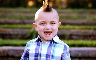 Gaya rambut anak laki-laki lucu model pank