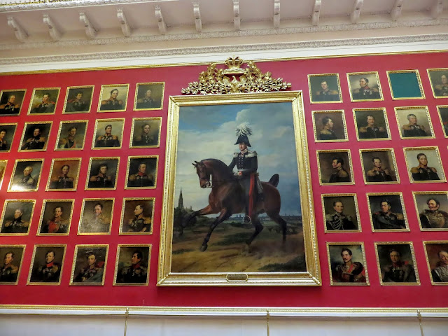 Military portraits at the Hermitage in St. Petersburg, Russia