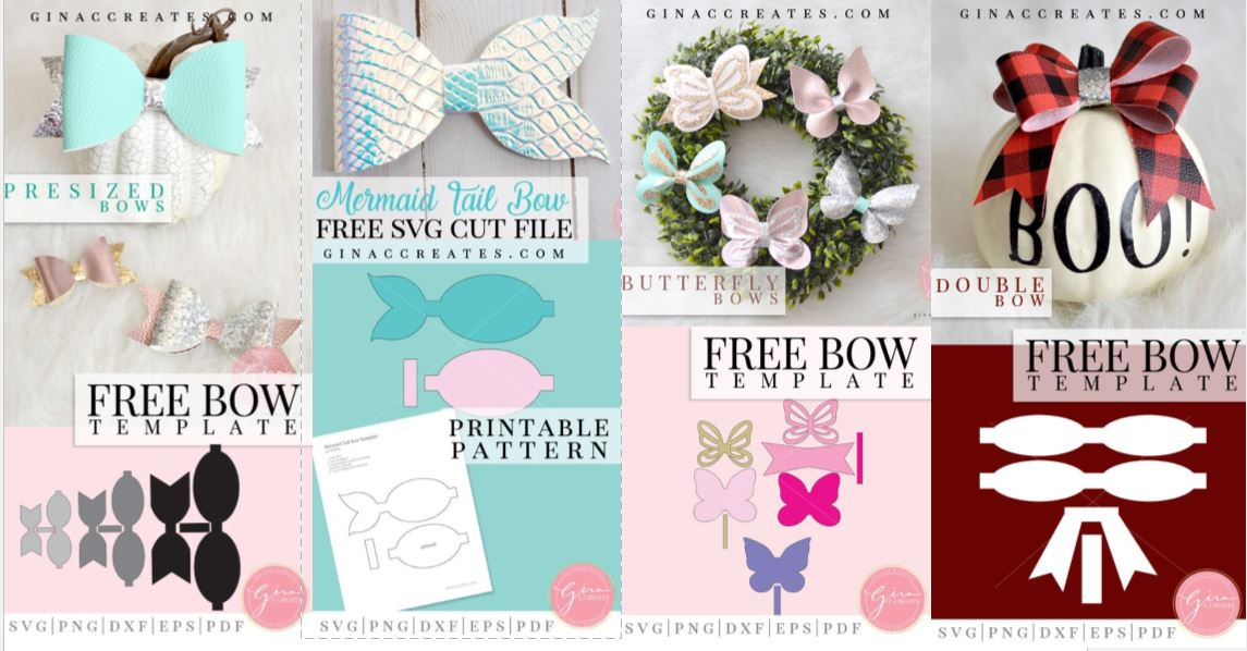 Fields Of Heather Free Templates Amp Svgs For Faux Leather Bows