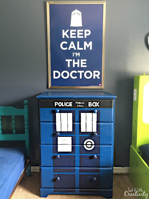 Hand painted Dr. Who dresser