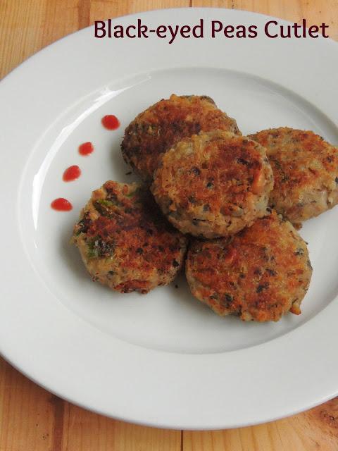 Vegan Black-eyed peas tikkis, Lobia kebab