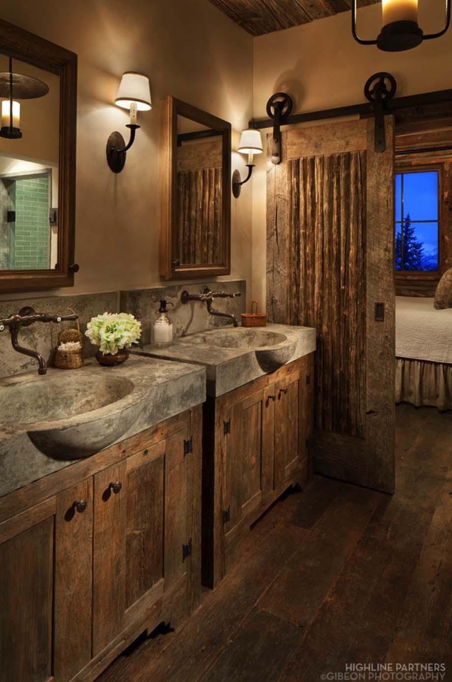 Rustic Bathroom Wall Decor Ideas