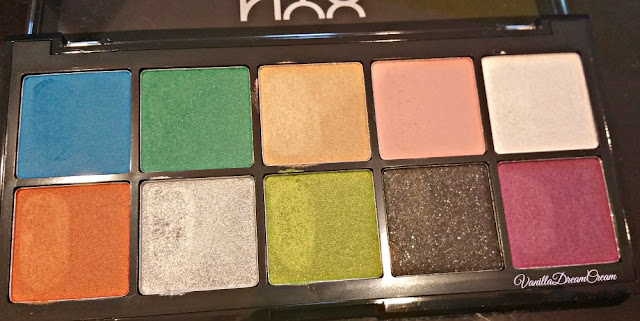 a close up look of ten eyeshadow in NYX Art Throb palette