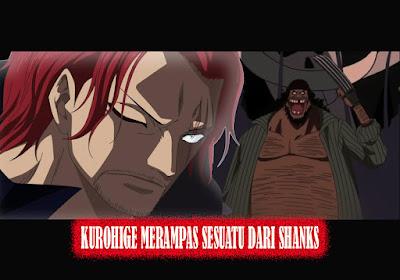 Shanks menyampaikan kepada Shirohige kalau  TERBONGKAR!!! INILAH ALASAN KUROHIGE MELUKAI WAJAH SHANKS!