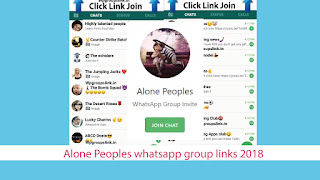 Alone Peoples whatsapp group link