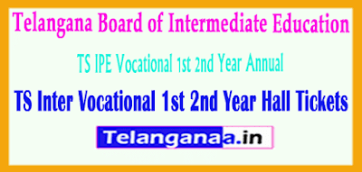 TS Inter Vocational 1st 2nd Year Hall Tickets