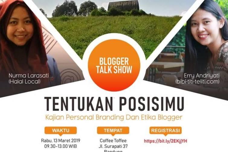 Flyer acara Personal Branding Bandung