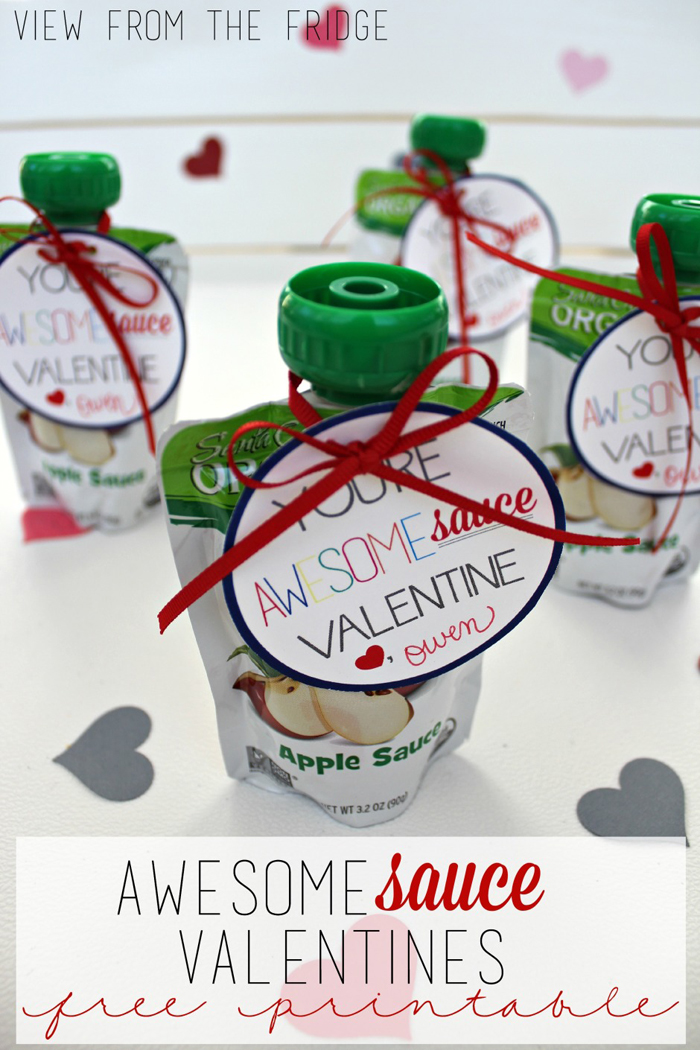 Apple Sauce Valentines