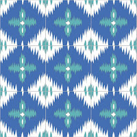 ikat tile pattern in blue and aqua