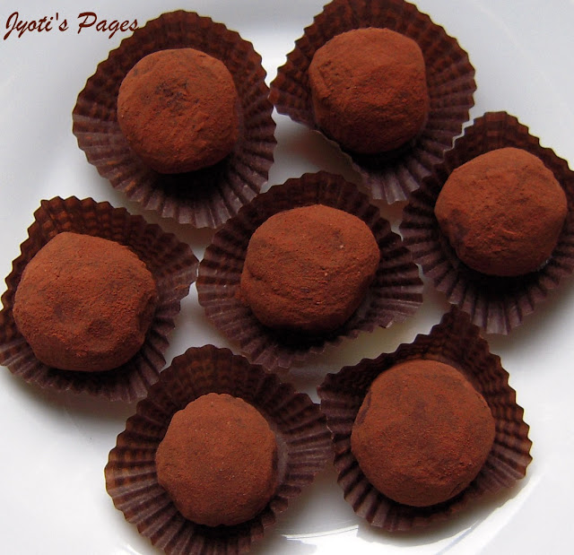 These melt-in-mouth Chocolate Truffles are the ultimate treat for any chocolate lover. Find the recipe at www.jyotibabel.com