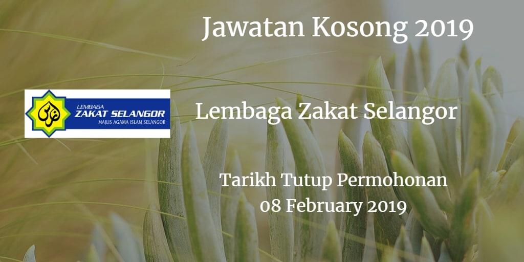 Jawatan Kosong Lembaga Zakat Selangor 08 February 2019