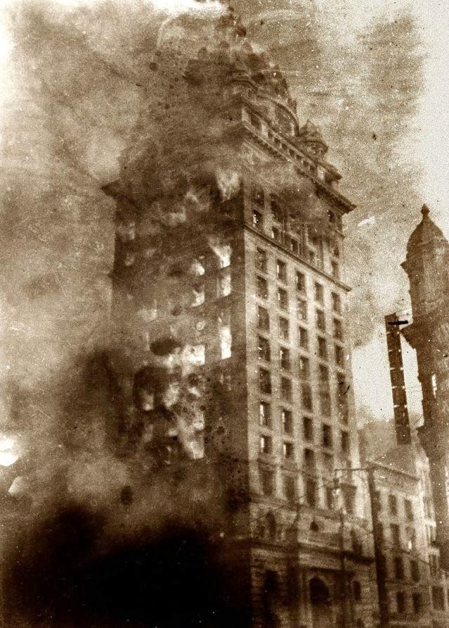 San Francisco Call newspaper building 1906 earthquake randommusings.filminspector.com
