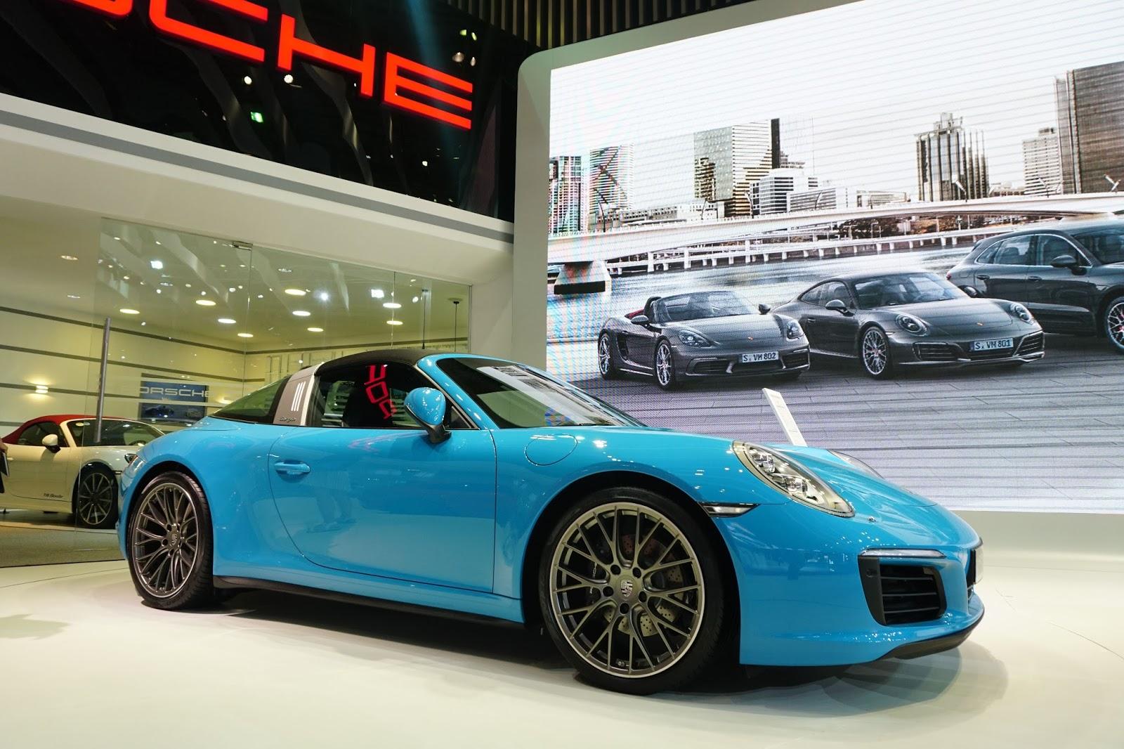 Porsche 911 Targa 4 là siêu xe mui trần đẹp nhất tại VIMS 2016 năm nay