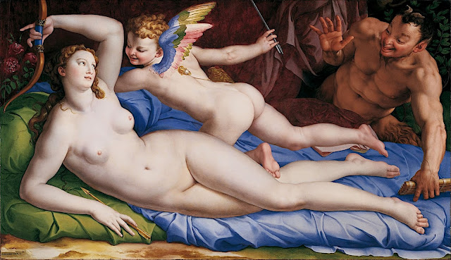 Agnolo Bronzino: Venere e Cupido con satiro