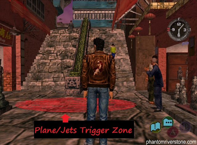 Trigger zone for the plane and jet cutscenes