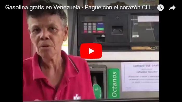 Gasolina gratis en Venezuela - Pague con el corazón