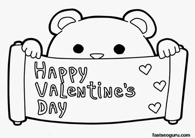 happy valentine day coloring pages - photo#35