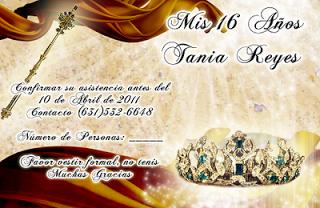 Tarjeta de Confirmación de Invitados novedosa para 15 años en color dorado y bronce con cetro y corona