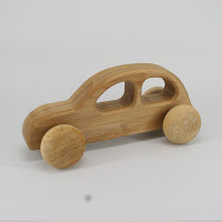 LFC22, Hunter's Car, Lotes Toys Wooden Car