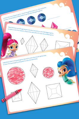 Shimmer and Shine activities to print