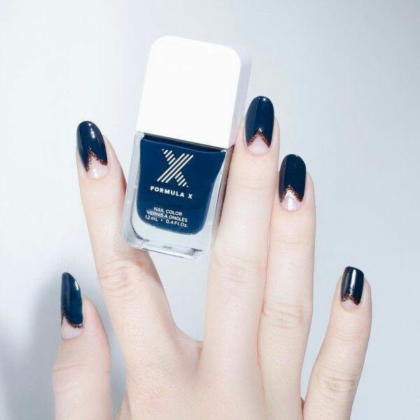 Royal blue nail polish