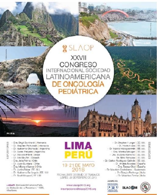 ONCOLOGIA PEDIATRICA CONGRESO INTERNACIONAL 2016