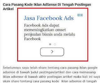 PASANG Iklan adsense di Bawah Judul Postingan (Artikel)
