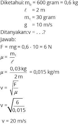 Pembahasan soal fisika tentang gelombang nomor 4
