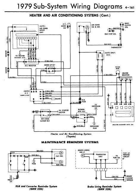 repairmanuals: All Models 1978 Heater and Air Conditioning Systems Wiring Diagrams