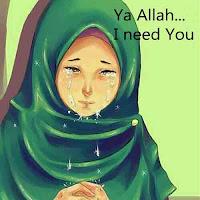 Muslimah menangis