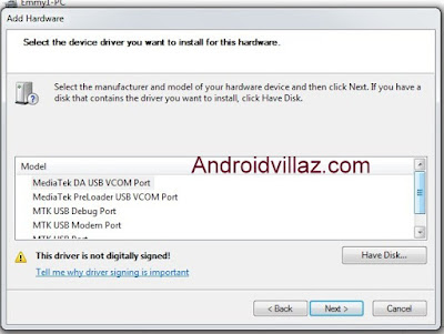 Preloader USB VCom Drivers MTK65XX On Your Pc